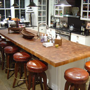 Teak Butcher Block Countertop in New York, NY