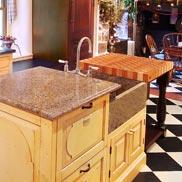 Cherry Maple Checkerboard Butcher Block Countertop in PA