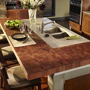 Brazilian Cherry Butcher Block Countertop in PA