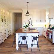 Stained Cherry Wood Kitchen Island Top in New York
