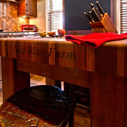 Custom Mahogany Butcher Block Countertops