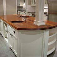 Mahogany Wood Counter in Sacramento, CA