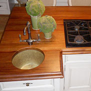 Mahogany Wood Countertop in Virginia
