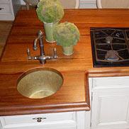 Mahogany Wood Countertop in Virginia