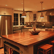 Custom Mahogany Wood Countertop in Pennsylvania