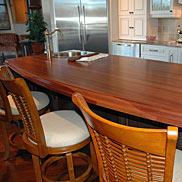 Mahogany Wood Countertop in Gainesville, Florida