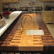 Walnut, Maple, White Oak Butcher Block Countertop