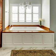 Teak Bathroom Countertop