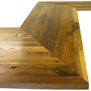 Reclaimed Chestnut Wood Counter in North Carolina