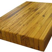 Custom Reclaimed Chestnut Wood Countertop in Pennsylvania