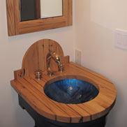 Reclaimed Chestnut Vanity in Hobe Sound, FL