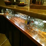 Sapele Mahogany Wood Bar Top in CA