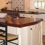 Sapele Mahogany Wood Kitchen Island