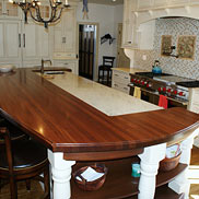 Sapele Mahogany Wood Countertop in Cape May, NJ