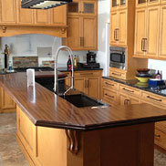 Sapele Mahogany Wood Counter in Newtown, PA