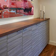 Sapele Mahogany Wood Counter in Washington