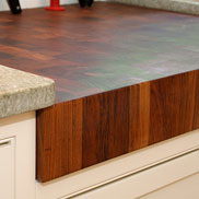 Teak Butcher Block Countertop with knife slot