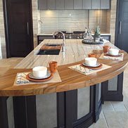 Burmese Teak Wood Countertop in Denver, Colorado