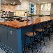 Tigerwood Kitchen Island Top in West Chester, PA