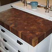 Walnut Butcher Block Countertop in N