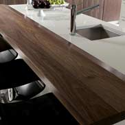 Walnut Wood Counter