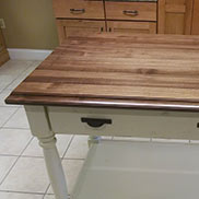 Walnut Wood Display Top in Pennsylvania