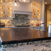 Walnut Wood Kitchen Island Countertop in New Jersey