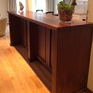 Custom Walnut Island Countertop in Ontario, Canada