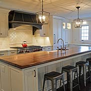 Walnut Kitchen Island Counter for Modern Farmhouse design