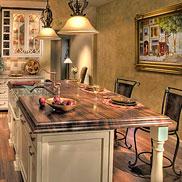 Walnut Wood countertop for Kitchen Island