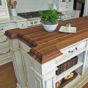 Custom Walnut Wood Kitchen Island