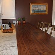 Custom Walnut Wood Counter in MA