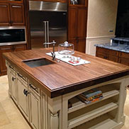 Walnut Wood Kitchen Island Countertop in Florida