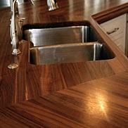 Custom Walnut Wood Countertop in Watford City, ND