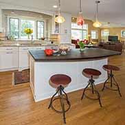 Custom Wenge Kitchen Island Counter in Worthington, Ohio