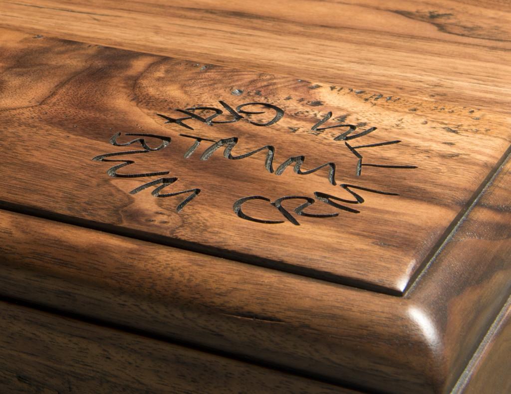 Wood Countertop with Laser Engraved Design