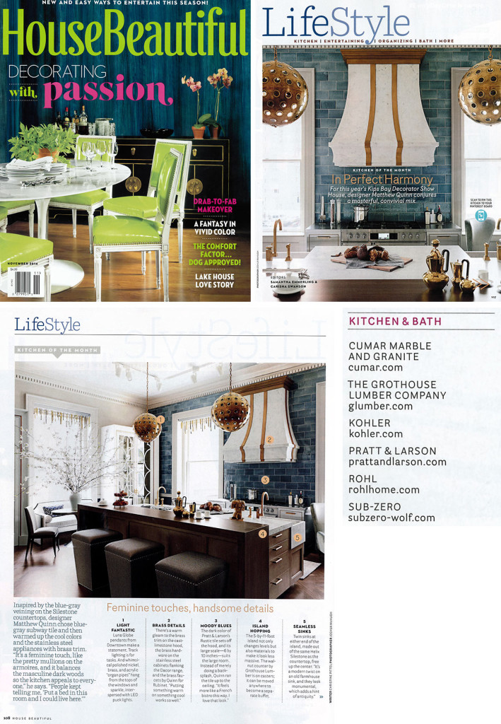Grothouse featured in House Beautiful Magazine November 2014