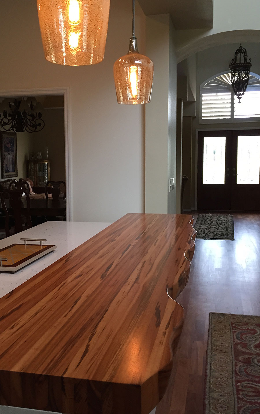 Faux Live Edge Tigerwood Countertop Customer Review
