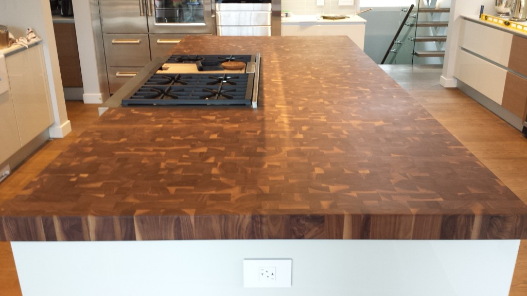 walnut refinishing a modern countertop butchers butcher block kitchen