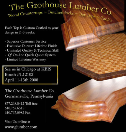 Custom Crafted Wood Countertop Surfaces by Grothouse