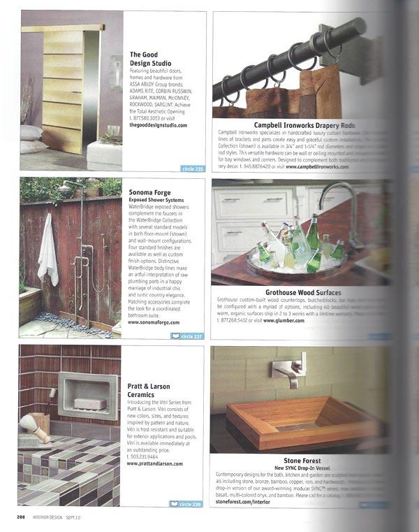 Interior Design Magazine September 2010