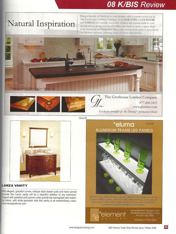 2008 grothouse articles wood countertops butcher block countertops - Design journal magazine ...