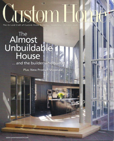 History of Grothouse Profile in Custom Home Magazine 2009