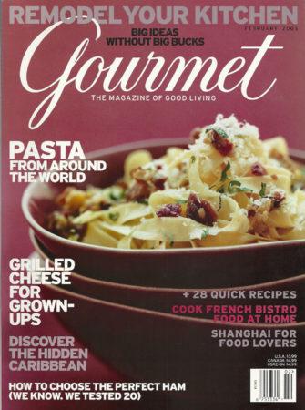 Wenge Wood Countertop exhibited in Gourmet Magazine