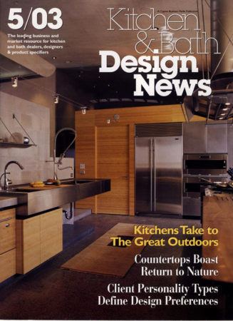 Custom Wood Countertops make the Kitchen & Bath Design News