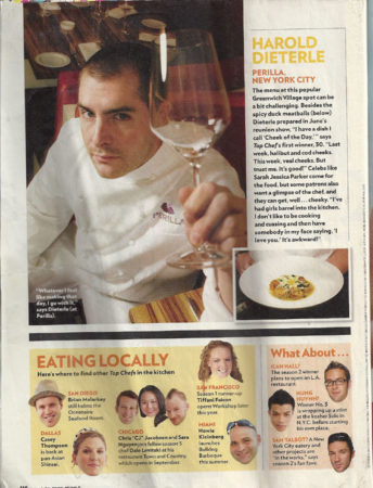 Zebrawood Table Top by Grothouse in People Magazine