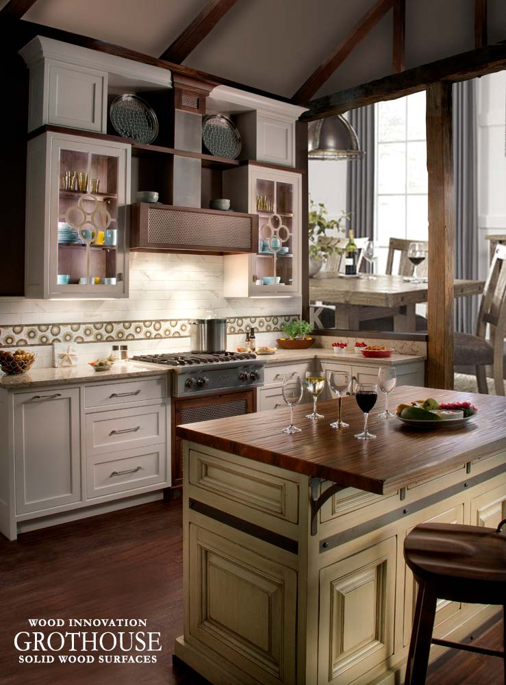 Kensington Kitchen Cabinets: Kensington Wood Kitchen Island Countertop In Devon, PA