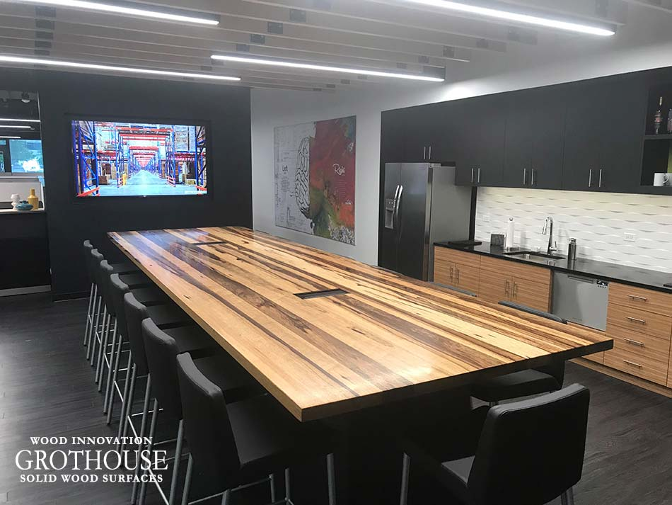 Large Saxon Wood™ Conference Table Designed by The Interior Design Group Ltd. in Lisle, Illinois