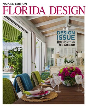 Grothouse African Mahogany Kitchen Island Countertop in Florida Design Magazine Naples Edition Volume 3#1