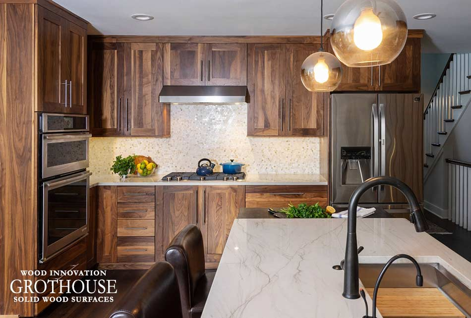 Wenge Butcher Block for a Transitional Kitchen Island in Philadelphia, Pennsylvania
